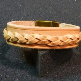 bracelet tresse cuir